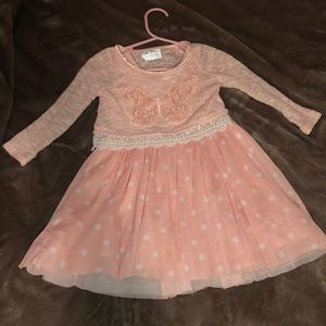 Butterfly and Polka Dot Toddler Dress!
